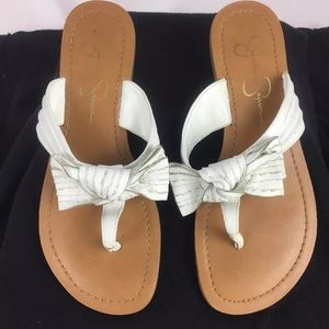 Jessica Simpson Women's  White Sandal, 6.5 M US